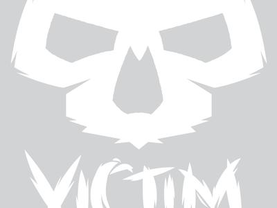 Victim Wip logo work in progress skull skate brand wip face victim