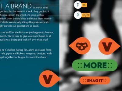 Victim Style Board web interface design flat skate brand branding website ui elements