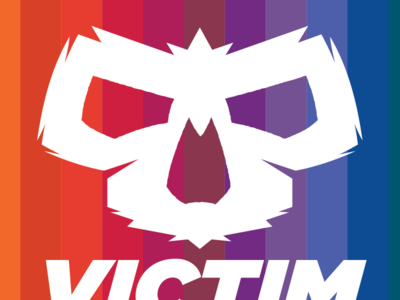 Victim Logo logo branding symbol skull skate skateboarding street rainbow
