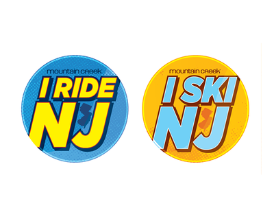 MC Buttons buttons mock-up promotion stickers ski snowboard resort design