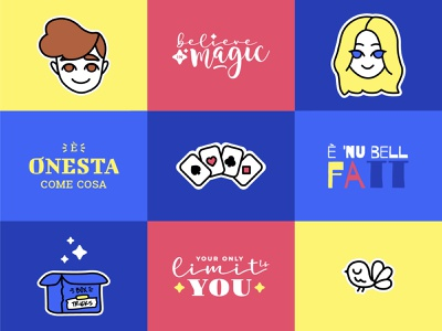 Mago Vincent - Stickers vector lettering giphy gif facebook illustration instagram stickers magic magician