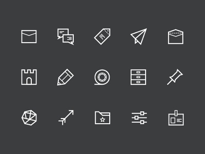 Mail app / Meil - icon set icon set icon ux user interface ui mobile app mobile mail graphic design email design app