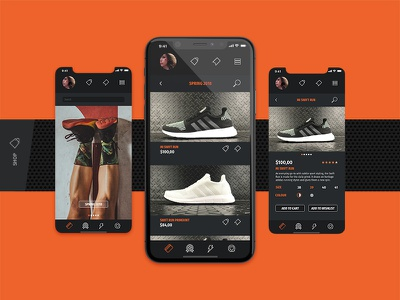 Running app / MiRun - Shop design running mirun mobile app animation mobile app graphic design user interface uiux ux ui