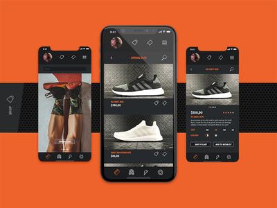 Running app / MiRun - Shop design running mirun mobile app animation mobile app graphic design user interface uiux ux ui