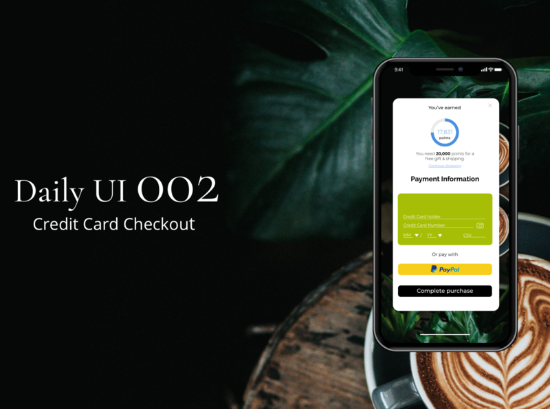 v creditcard coffee minimalism design web ux ui dailyui
