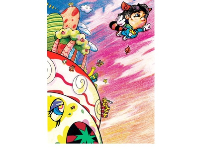 Super Miyamoto World colorpencils digital painting kanye west super smash bros super mario bros. japanese culture japanese art superflat murakami super mario video games nintendo markers ink pen illustration