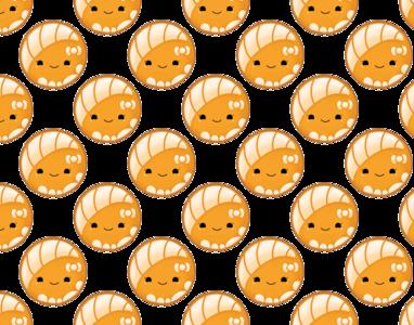 Orange Concha Pan Dulce Pattern illustration digital art procreate app mexican concha pan dulce vector design logo branding