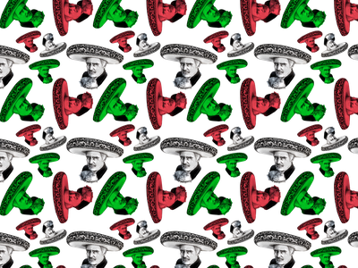 Vicente Fernandez Pattern mexican art society6 redbubble crosshatching hispanic heritage month el grito mexican independence day vicente fernandez markers ink pen illustration