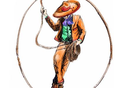 El Charro digiotal art ipadopro procreate mexican independence mexican hispanic heritage month baile folklorico charro