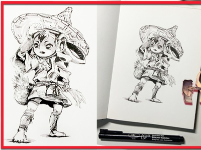 Sakuna of Rice and Ruin (Video Game fanart) xseed games sakuna sketching sketchbook pens inking video games nintendo inktober markers ink pen illustration