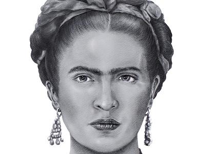 Frida Kahlo Pencil Drawing illustration realism cinco de mayo hispanic mexican frida kahlo pencil drawing drawing portrait