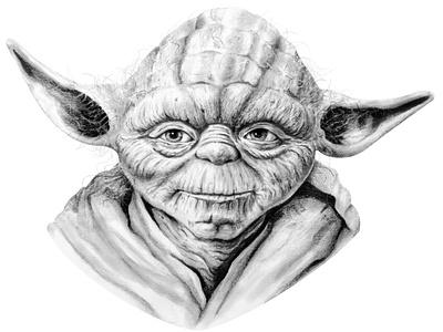 Master Yoda Pencil Drawing sketch arte dibujos darth vader luke skywalker jedi fanart shading realism graphite pencil art drawing illustration star wars yoda