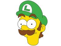 Simpson Style Luigi