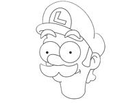 Simpson Style Luigi Vector Art
