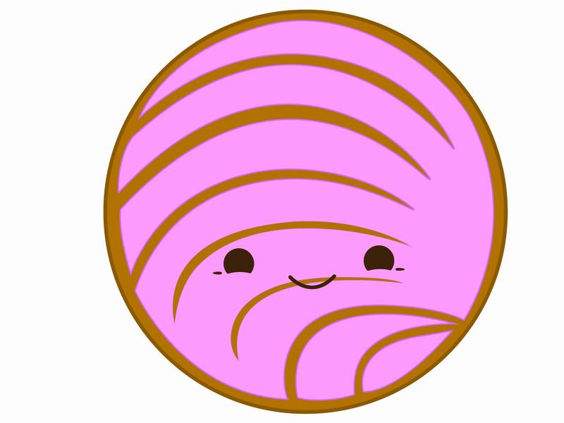 Pink Concha Pan Dulce Mexican Sweet Bread By Ivan Ramirez