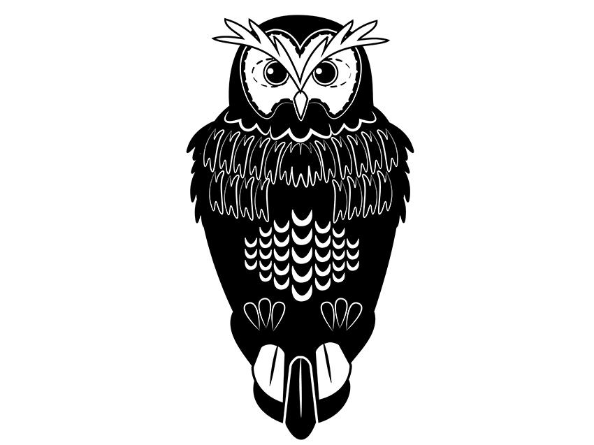 Owl Silhouette by Ivan Ramirez on Dribbble
