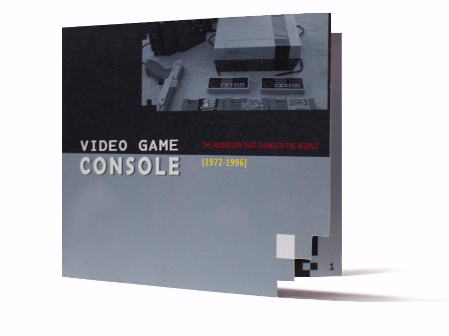 Video History Booklet Concept indesign template typography illustration vector vector art retro game magazine design mock up nintendo video games booklet booklet design concept art logo design