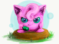 Cute and angry Jigglypuff