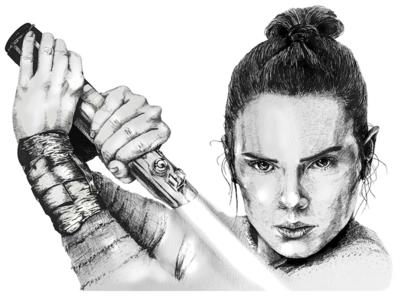 Rey (Daisy Ridley) Star Wars