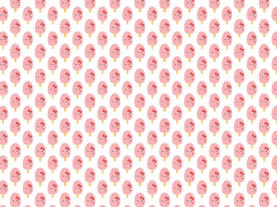 Strawberries N Cream Popsicle Pattern