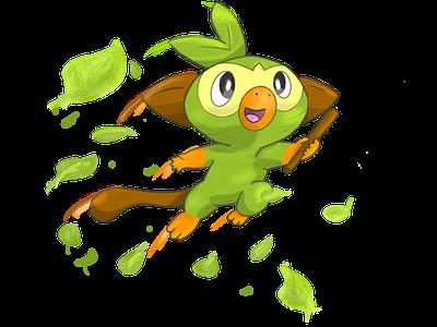 Grookey Pokemon Sword Shield By Ivan Ramirez On Dribbble It evolves into thwackey starting at level 16, which evolves into rillaboom starting at level 35. grookey pokemon sword shield by