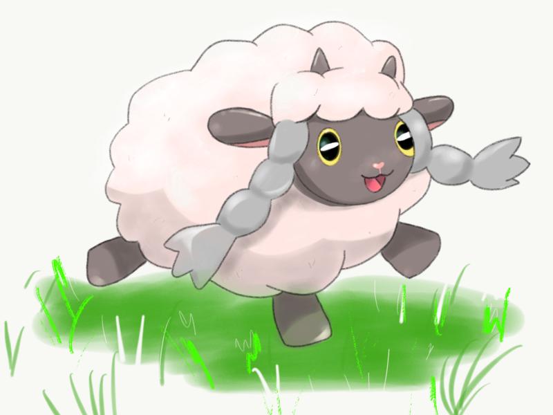 Wooloo (Pokemon Sword and Shield) nintendo switch manga anime animal art sheep digital painting digital art pokemon sword pokemon wooloo illustration