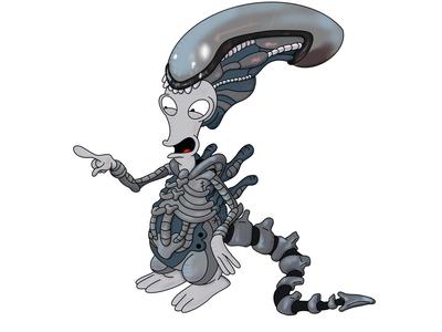 Roger the Alien as a Xenomorph