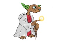 E.T. dressed as Yoda