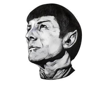 Spock (Leonard Nimoy) cross hatching pens dralloween star wars star trek spock halloween inktober markers illustration