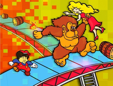 Donkey Kong Arcade Shigeru procreate app procreate ipad pro super mario super smash bros dkc donkey kong video games nintendo vector design illustration