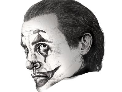 Joker 2019 (Joaquin Phoenix) batman pen drawing clown joaquin phoenix joker design markers ink pen illustration