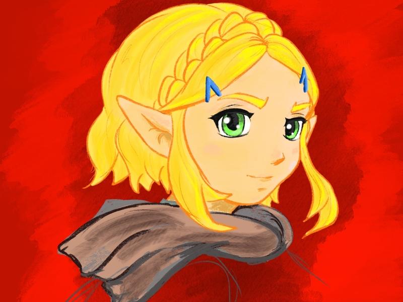 Short Hair Zelda (Breath of the Wild Sequel) digital painting digital art art artist procreate app procreate art procreate the legend of the zelda zelda vector design
