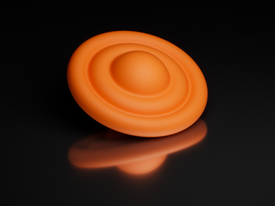 Toys - Planet O exploration concept 2021 2020 cgi illustration logo planet orange houdini 3d modeling render minimal 3dartist 3d