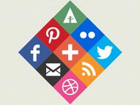Diamond Social Icons
