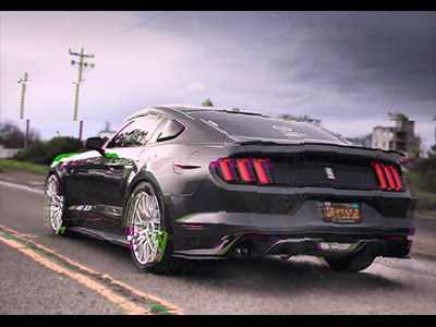 There's a glitch in the system! reality altered mustang