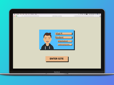 Card–Based Landing Page webdesign uidesign landing page dailyui 003