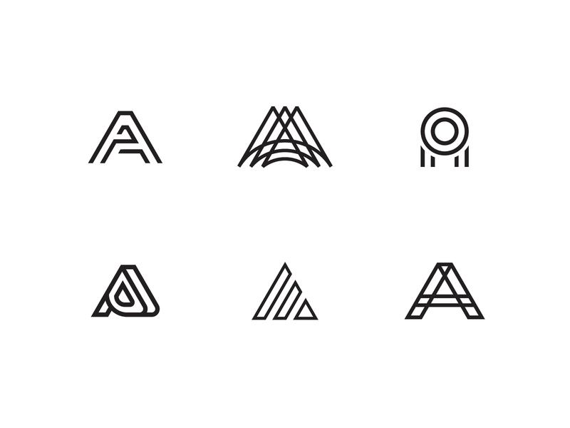 Letter mark A logo vector design designchallenge lettermarklogo lettermark logos icon monogramlogo monogram 26daysoftype