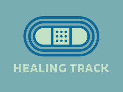 Healing Track Logo sick healing logo healthcare medical bandaid track