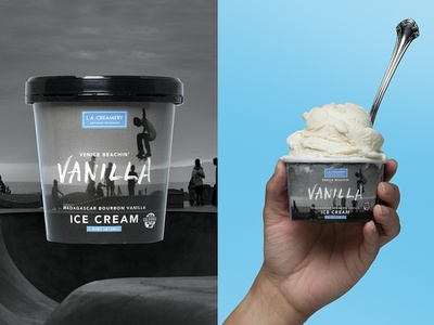 L.A. Creamery venice beach icecream losangeles packaging