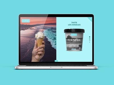 L.A. Creamery Website responsive design uidesign uxdesign