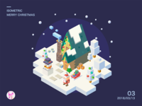 2.5D Christmas isometric