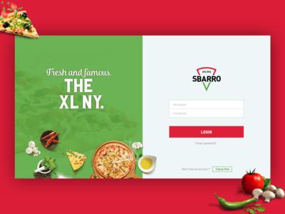 Sbarro Pizza Login Concept