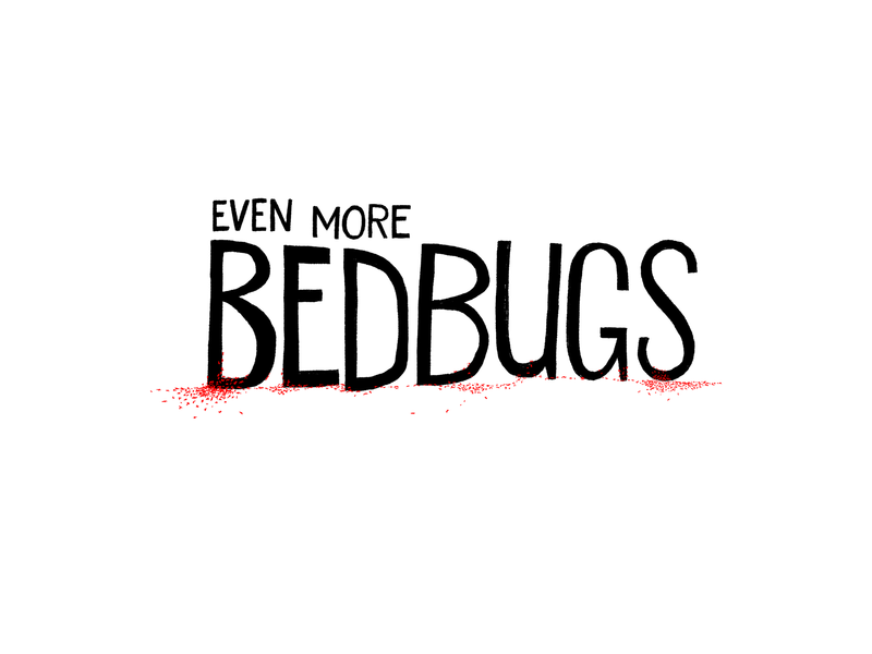 Bedbugs design black white and red all over illustration handlettering lettering typography horror scary big scary poster show poster