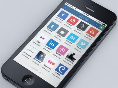 UI Dashboard social share icon utility responsive mobile favorites freecreative
