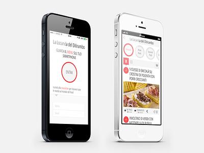 Mobile Menu responsive restaurant italian bootstrap webapp freecreative ios