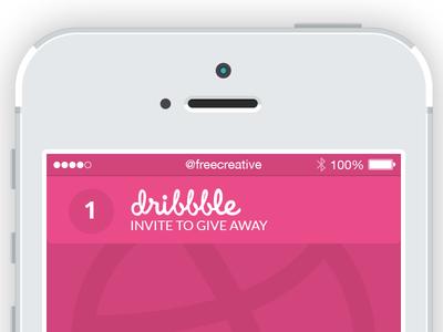 dribbble Invite @1x invite icon push notification ui ux freecreative