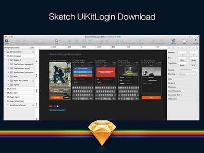 Sketch App Ui Kit Login sketch sketchapp download ux ui mobile gui flat kit login