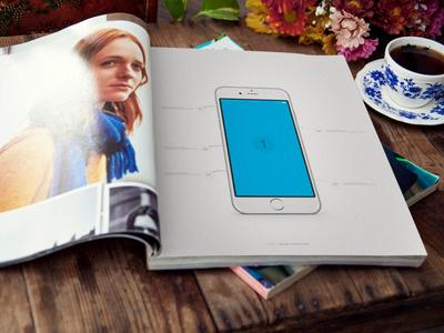A4 Board Presentation iPhone 6 freecreative download psd a4 board iphone print presentation iphone 6