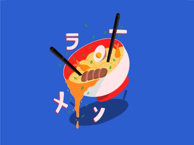 Ramen Lovers Club graphic illustrator design spirited away studioghibli movies anime japan ramen food ipad flat design handmade procreate illustration