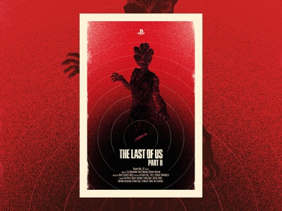 The Last of Us Part II illustrator typography graphic design branding flat design game art print poster zombie naughty dog playstation games art illustration gaming